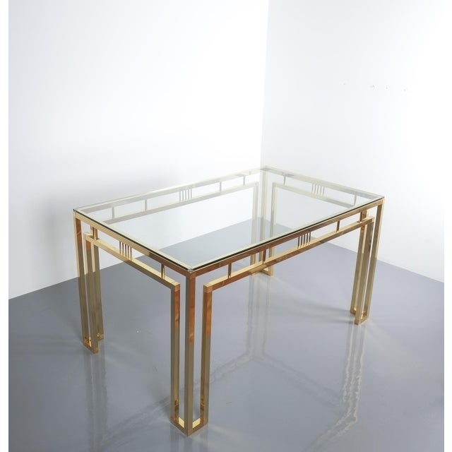 Romeo Rega Romeo Rega Breakfast or Dining Table Brass Glass, Italy 1960 For Sale - Image 4 of 12