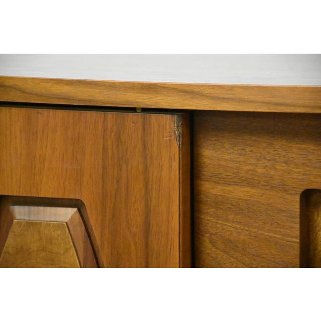 Young Manufacturing Walnut Tall Dresser For Sale - Image 9 of 11