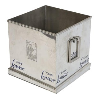 Pommery Cuvee Louise Square Champagne Cooler For Sale