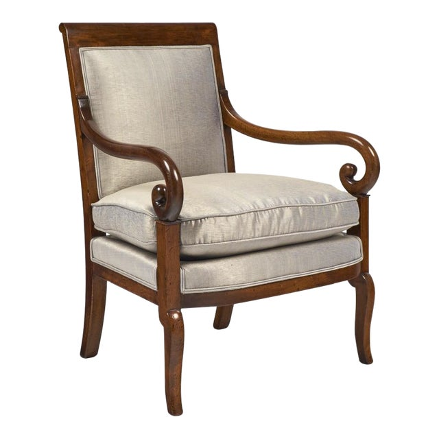 19th Century French Restauration Period Walnut Armchair - Image 1 of 11