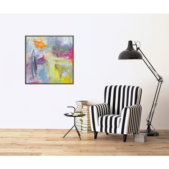"""Canvas """"Partially Sunny"""" by Trixie Pitts Abstract Expressionist Oil Painting For Sale - Image 7 of 10"""