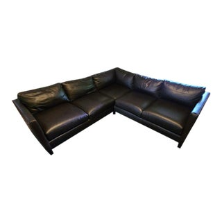 Arhaus Genuine Leather Two-Piece Sectional For Sale