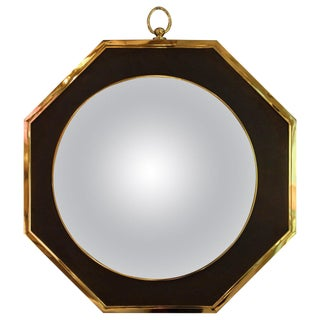 1970s French Oval Wall Mirror in the Style of Maison Jansen