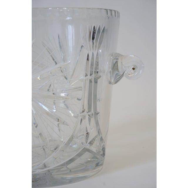 Vintage Ice Bucket Lead Crystal Pressed Design For Sale - Image 11 of 13