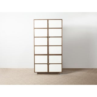 """Contemporary """"Royere"""" Gray Oak Tall Cabinet Preview"""