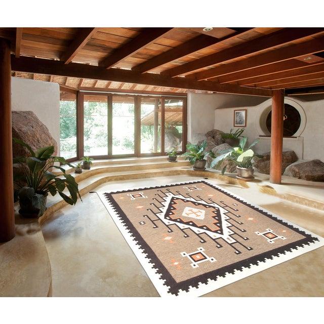 "Navajo Decorative Hand-Woven Rug- 7'10"" X 9'11"" - Image 3 of 3"