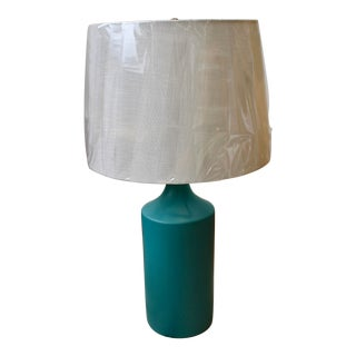 Matte Teal Ceramic Table Lamp by Kenroy Home For Sale