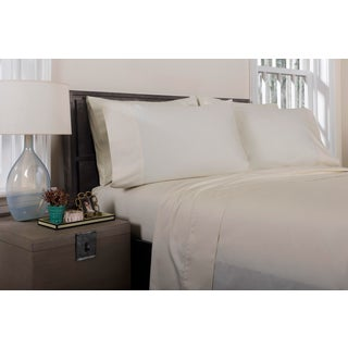 Florence Solid Flat Sheet Queen - Limestone Preview