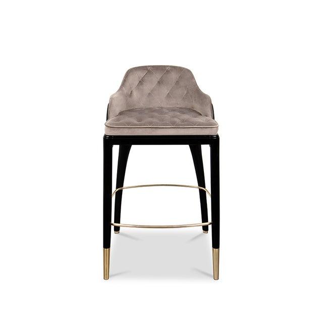 Metal Covet Paris Modern Charla Bar Chair For Sale - Image 7 of 7