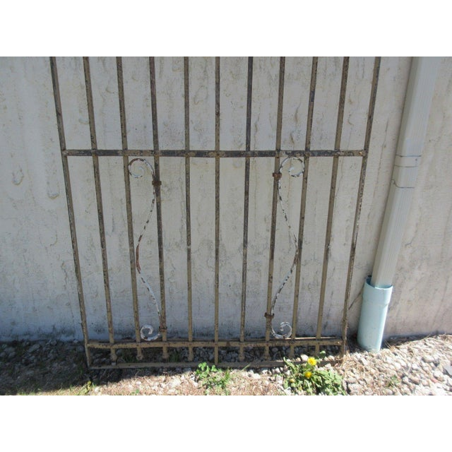 Antique Victorian Iron Gate For Sale - Image 4 of 7