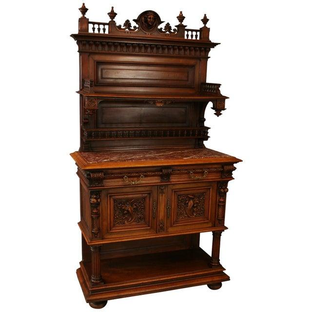 1900 French Renaissance Sideboard Server For Sale