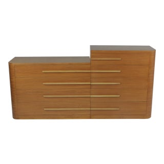 Donald Deskey for Widdicomb Modern Art Deco Machine Age Asymmetrical Dresser Set 1930s - 2 Pieces For Sale