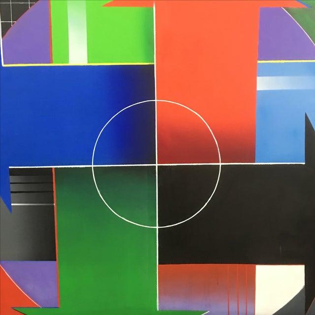 Blanchard Large Modernist Painting - Image 5 of 7