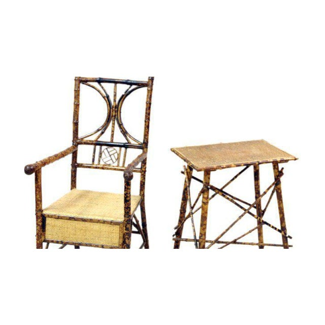 Bamboo Armchair and Side Table - Image 2 of 3