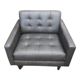 Early 21st Century Paul Roberts Gray Leather Chair For Sale