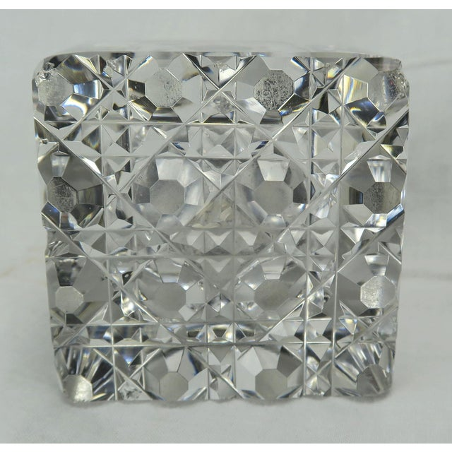 Gorham Crystal Inkwell With Sterling Lid Chairish