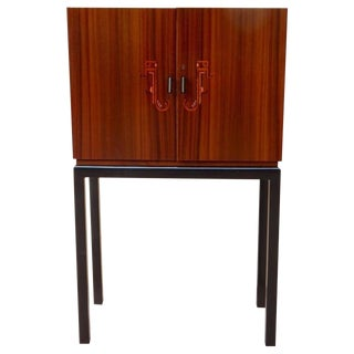 1930s Art Deco SMF Inlaid Dry Bar For Sale