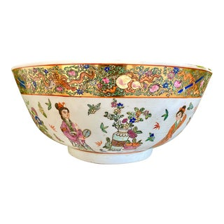 1960s Oriental Large Ceramic Bowl For Sale
