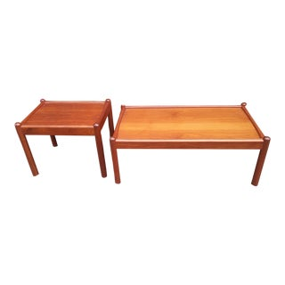 Mid Century Modern Dixie Teak Coffee & Side Table Set - 2 Pieces For Sale