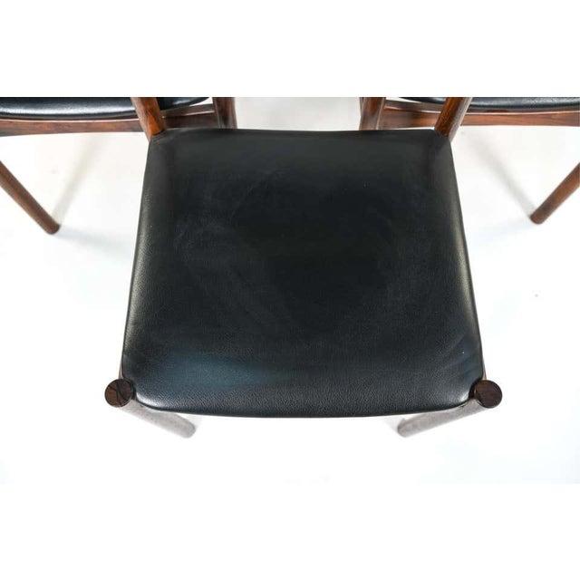 1940s Six Mid-Century Modern Danish Dining Chairs, Soro Stolefabrik Denmark, Rosewood For Sale - Image 5 of 13