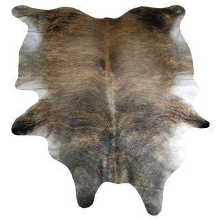 Large Modern Brindle Cowhide in Light and Dark Brown Form Brazil For Sale