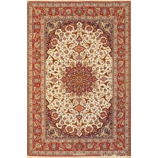 "Pasargad Persian Isfahan Seirafian Signed Rug - 5' X 7'7"" For Sale"