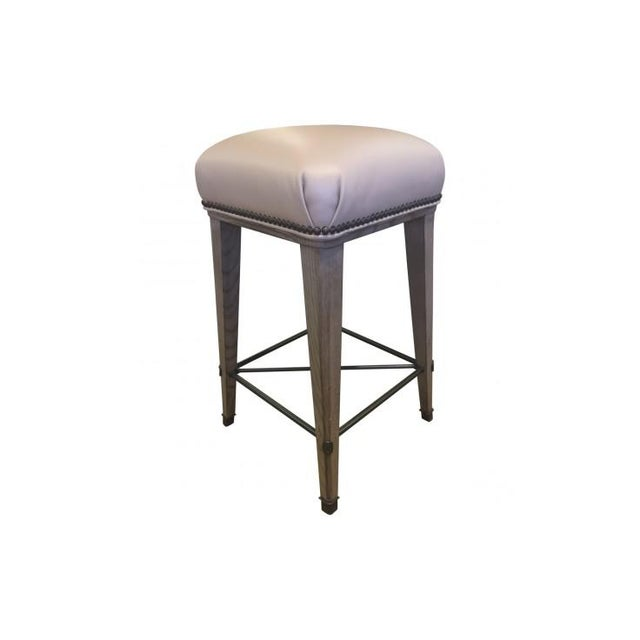 Mid-Century Modern Windsor Counter Stool For Sale - Image 3 of 7
