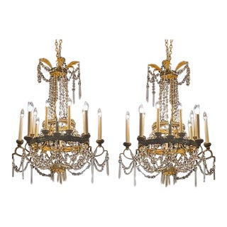 Italian Chandeliers - a Pair For Sale