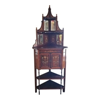 19C Collinson & Lock Corner Cabinet For Sale