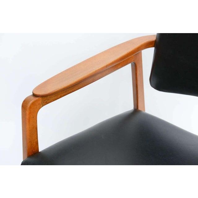 Sigvard Bernadotte for France & Daverkosen Danish Modern Teak Lounge Armchair - Image 4 of 11