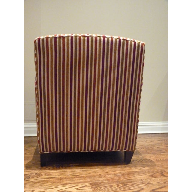 Crate & Barrel Striped Club Chair - Image 5 of 6