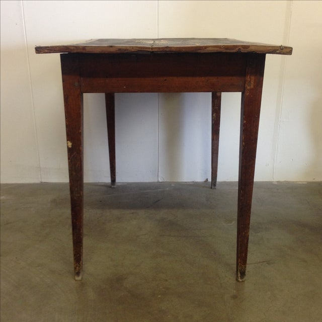 French Vintage Desk With Drawer - Image 4 of 10