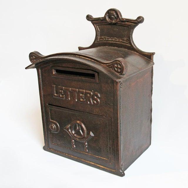 Antique Iron Mail Box - Image 2 of 5