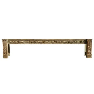 Architectural Long Hall Console Table For Sale