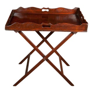 English Mahogany Butler's Tray For Sale