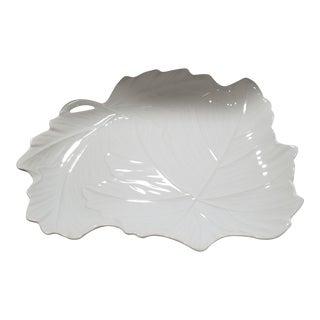 Porcelain Maple Leaf Serving Platter