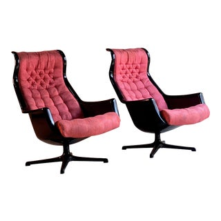 Galaxy Chairs by Alf Svensson & Ingvar Sandstrom for DUX, Sweden, circa 1968 For Sale