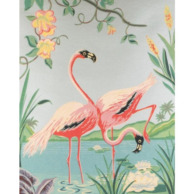 Mid-Century Modern Vintage Mid-Century Flamingo Painting By M. Devoe For Sale - Image 3 of 10