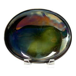 Jesse Reece Iridescent Art Glass Bowl For Sale
