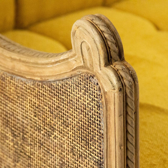 Graham Walsh Sofa in Mustard For Sale - Image 4 of 5
