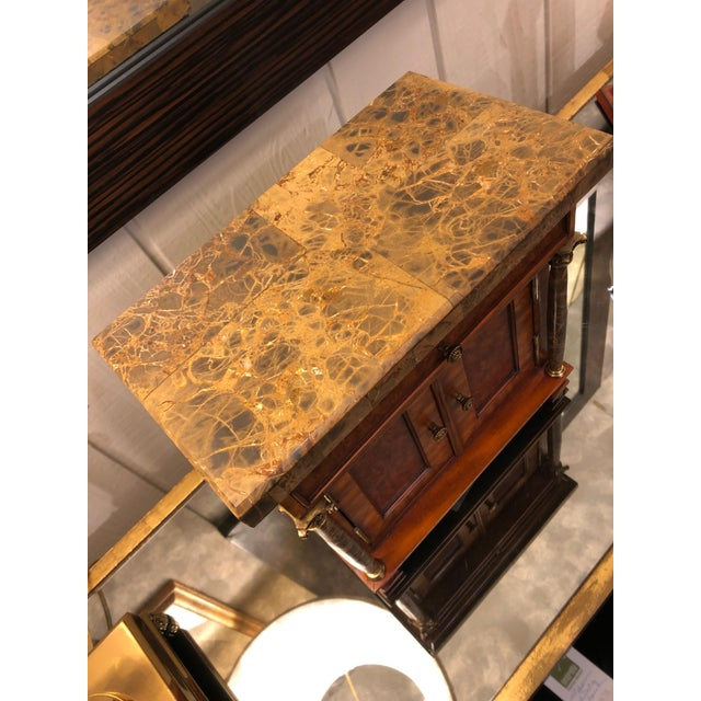 1990s Vintage Neoclassical Credenza Tabletop Treasure Box For Sale - Image 5 of 12