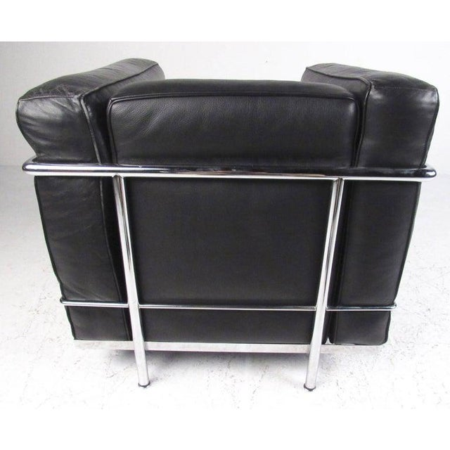 Metal Le Corbusier Lc Leather and Chrome Living Room Set for Cassina For Sale - Image 7 of 12