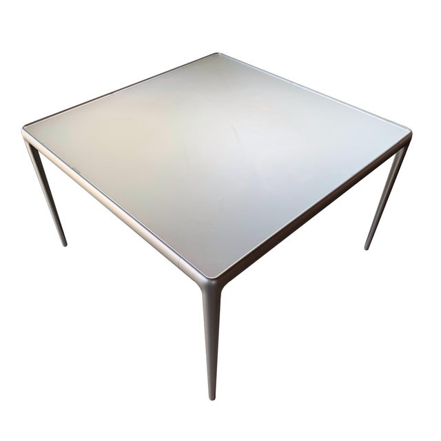 Contemporary Contemporary B&b Italia Early Mirto Indoor Mirrored Glass Square Dining Table For Sale - Image 3 of 6