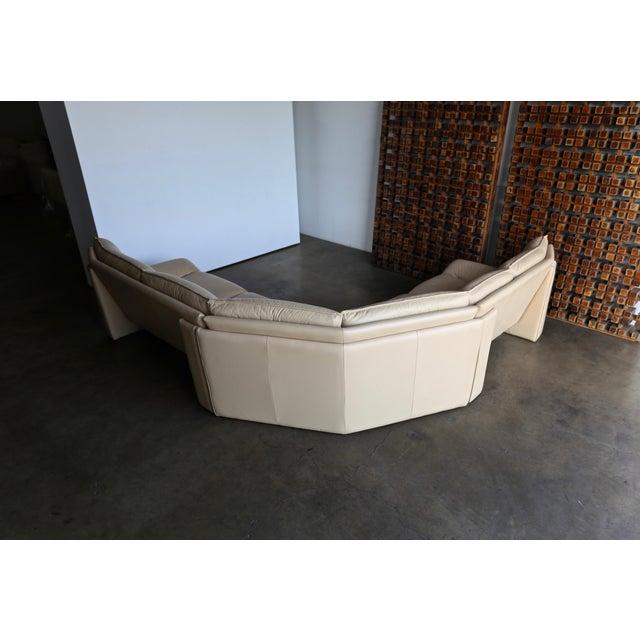 Nicoletti Salotti Modern Leather Sectional Sofa Circa 1985 For Sale - Image 11 of 13