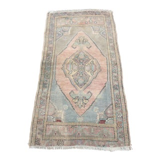 Handicraft Traditional Turkish Anatolian Rug - 1′11″ × 3′8″