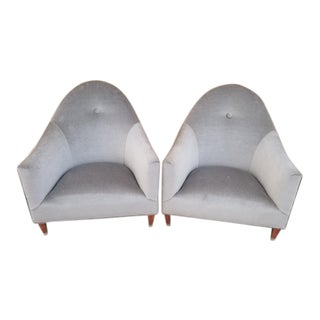 Mid Century Modern John Hutton for Donghia Phantom Club Chairs Newly Upholstered - Pair For Sale