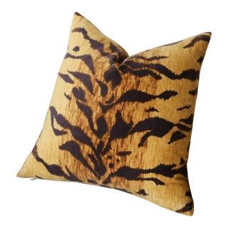 Velvet Tiger Pillow Cover 22x22 For Sale