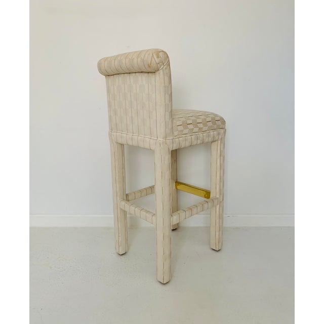1980s Vintage Parsons Bar Stools- Set of 6 For Sale In Minneapolis - Image 6 of 9