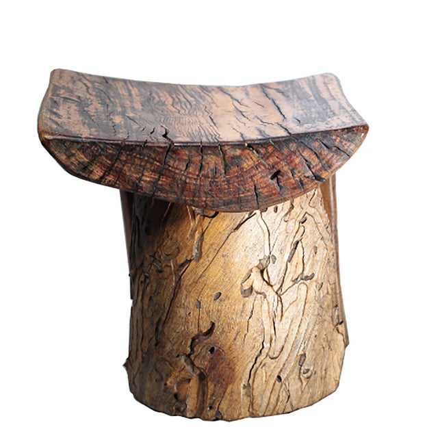 Rustic Tree Stump Stool - Image 6 of 6