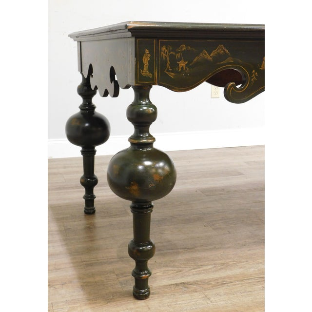Banks Coldstone Co. Handpainted Green Table For Sale - Image 10 of 13